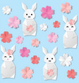 white origami paper vector image
