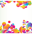 Abstract background with bright circles and vector image