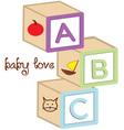Baby Love Blocks vector image vector image