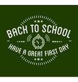 Back to School typography Designs Label vector image vector image