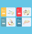 bank loan online isometric concept vector image