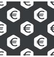 Black hexagon euro pattern vector image vector image