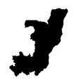 black silhouette country borders map of republic vector image vector image