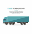 blue cargo delivery truck isolated vector image vector image