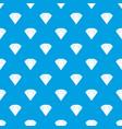 brilliant gemstone pattern seamless blue vector image vector image
