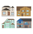 buildings houses facade architecture modern flat vector image
