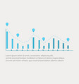 business infographic with graphic design vector image vector image