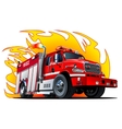 Cartoon Fire Truck vector image
