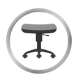 Chair rolling icon cartoon Single tattoo icon vector image