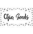 chia seeds background vector image vector image