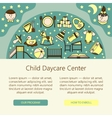 Child and baby care center web or card template vector image