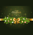 christmas greeting card with traditional vector image vector image