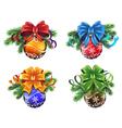 Christmas ornaments set vector image vector image