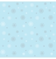 Christmas pattern with snowflakes on a blue winter vector image vector image
