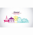 circus people fair vector image vector image
