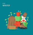 cold winter flat style design vector image