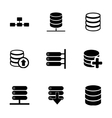 database icon set vector image vector image
