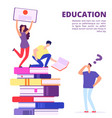 education through books and self-study vector image vector image
