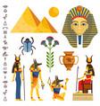 egypt set ancient egyptian idols statues vector image