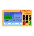 electronic ballot box in the presidential and vector image vector image