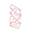 falling poker cards spades casino vector image vector image