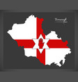 fermanagh northern ireland map with ulster banner vector image vector image