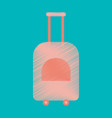 flat icon in shading style suitcase on wheels vector image vector image