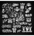 Floral chalkboard set vector image vector image