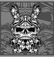 floral ornamental skullshand drawing vector image vector image