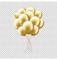 golden balloons sheaf vector image vector image