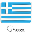 Greece doodle flag vector image
