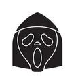 grim reaper emoji black concept icon grim vector image