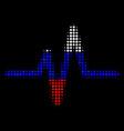 halftone russian pulse icon vector image vector image
