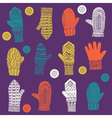 hand wool gloves vector image vector image