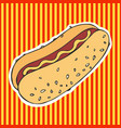 Hot dog hand drawing sticker