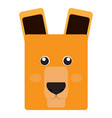 isolated alpaca face vector image vector image