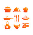 kitchen equipment icon vector image vector image