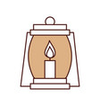 lantern camping isolated icon vector image