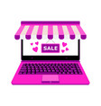 laptop for online shop payment vector image vector image
