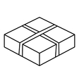 Level box icon outline style