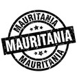 mauritania black round grunge stamp vector image vector image