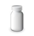 Medical white plastic bottle isolated vector image vector image