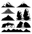 mountains and volcanoes vector image vector image