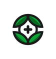 natural health leaf modern logo vector image vector image