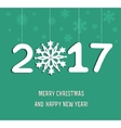 New Year decoration 2017 vector image vector image