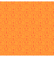 Orange hand drawn halloween pumpkins pattern vector image