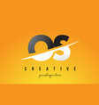 os o s letter modern logo design with yellow vector image vector image