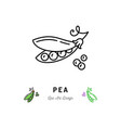 Pea icon vegetables logo peas in a pod