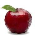 polygon mosaic apple vector image