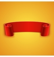 Realistic detailed curved red ribbon vector image